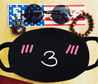 Cotton Anime Mouth Face Mask Anti-Dust Cycling Respirator Emoji Mask US