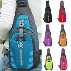 Mens Nylon Crossbody Shoulder Chest Cycle Sling Bags Daily Sport Travel Backpack