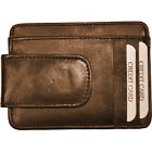 Budd Leather RFID Magnetic Money Clip 2 Colors Men's Wallet NEW