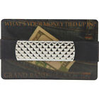 Budd Leather XL Stainless Steel Grand Band Men's Wallet NEW