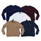Polo Ralph Lauren Womens Sweater Cable Knit Pullover Jacket Pony Logo New Nwt