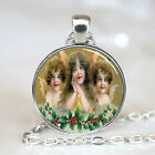 Vintage Christmas Baby Angels Glass Dome Pendant (PD0587)