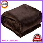 "NEW Soft Heavy Weighted Blanket Purple Mink Woven Sensory 50"" x 60"" Thick Plush image"