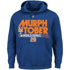 Men's Majestic Royal New York Mets Murphtober 2015 Hoodie Jacket Blue  L XL XXL on Ebay