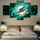 Miami Dolphins Football Logo Sports Canvas Painting Wall Art Poster Home Decor on eBay