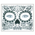 2Pcs Face Mask Skull Design Temporary Transfer Tatto Decals Party Festival Decor