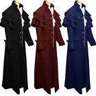 19th Century Mens Long Trench Steampunk Frock Vintage Gothic Victorian Coat
