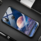 For Xiaomi 8 Redmi Note 5/6 Pro Luxury Shockproof Stained Glass Hard Case Cover