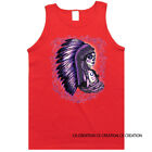 Purple Chief Women Native American Indian Graphic Tank Top