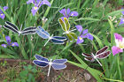 Stained Glass Dragonfly Yard Art Garden Stake Made in America Designed by Seller