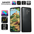 "S9 Big Screen 5.7"" 3g Smartphone Dual Sim Android6.0 Unlocked Mobile Phone Gps"