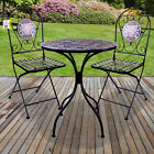 Mosaic Bistro Set Outdoor Patio Garden Furniture Dining Set Table Folding Chairs