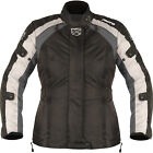Akito Tornado Womens Black Gun Textile Waterproof Motorcycle Jacket New