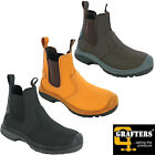 Grafters Dealer Safety Boots S1 Steel Toe Coated Leather Pull On Industrial Work