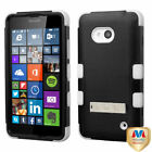 Impact Silicone +Hard Case Hybrid Protector w/Stand for Nokia Lumia 640