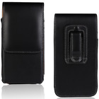 Luxury Magnetic Black Phone Case Leather Belt Clip Holster Carrying Pouch Cover