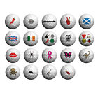 Golfdotz Golf Ball Transfers. Twin Pack - Wide Range of Designs. Wales, Scotland