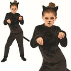 Black Cat Girl Costume - Fancy Dress Witches Kids Animal Halloween Book Week