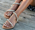 UK Womens Flip Flop Diamante Sandals Ladies Flat Toe Post Holiday Beach Sliders