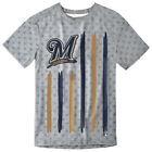 Milwaukee Brewers Big Logo Flag Tee by Forever Collectibles on Ebay
