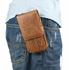 Luxury vertical Leather Pouch Belt Holster Card Soft Case Cover For Cell Phones