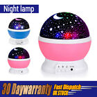 BestFire Novelty 360 Rotating Round Night Light Lamp Star Moon Sky 3 Projector
