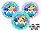 Внешний вид - 20 BABY SHARK BIRTHDAY PARTY FAVORS LABELS STICKERS for your favors - 2 inches