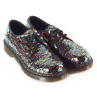 Dr Martens Women's 1461 Sequin Lace Up Shoe Rainbow Multi / Silver