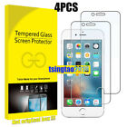 Box Protector for Apple iPhone iPhone 6 7 8Plus X XS Tempered Glass Film 4Pcs