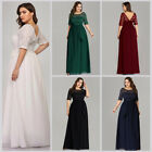 Ever-pretty US Half-sleeve Long Mother of the Bride Dresses Cocktail Prom Gowns