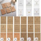 Women Animal Heart Necklace Pendant Clavicle Choker Chain Paper Card Style Gift image
