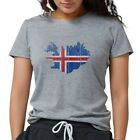 CafePress Iceland Flag And Map T Shirt Womens Tri-blend T-Shirt (306577753)