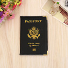 Leather USA Passeport Cover Travel PU Passport Holder American Wallet Women Man