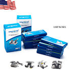 EASYINSMILE 10Packs Orthodontic Brackets Dental Roth/MBT 018/022 Metal Braces