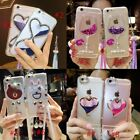 Dynamic Liquid Glitter Quicksand Soft TPU Phone Back Case Cover & neck strap #T