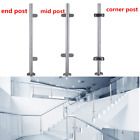304 Stainless Steel Balustrade Posts Glass Clamps Grade Grit Rubbers End Cap