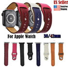 For Apple Watch strap iwatch Band 42mm 38mm Genuine Leather Wristband Series 4 3 image