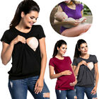 Women Pregnant Maternity Clothes Nursing Tops Breastfeeding Loose T-Shirt Blouse