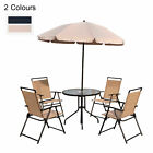 4 Seater Bistro Set Garden Furniture Patio Bistro Round Table Chairs W/ Parasol