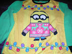 Despicable Me Minions Womens Ugly Christmas Sweater 2 Piece Pajama Set