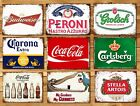 Metal signs plaques vintage retro style Beer bar Peroni mancave home wall decor £4.99  on eBay