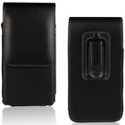 Luxury vertical Leather Pouch Belt Holster Card Wallet Phone Black Case Cover