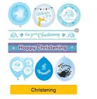 CHRISTENING BLUE Baby BOY Party Supplies Napkins Decorations Religious Occasion