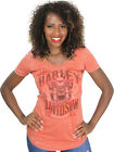 Harley-Davidson Ladies Vintage Orange Heather Short Sleeve Burnout T-Shirt $9.99 USD on eBay