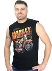 Harley-Davidson Mens Motorcycle w/ Classic Logo Black Sleeveless Muscle Shirt $9.99 USD on eBay