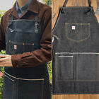 Vintage Workwear Apron Denim Multi-pocket Redline Denim Men's Sleeveless Apron