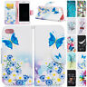 Pattern Leather Case Wallet Stand Flip Bumper Cover For iPhone 5 5s SE 6 6s Plus