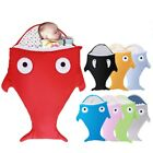 Baby Soft Thick Cotton Slaapzak Cartoon Winter Shark Sack Babies 5colors By Size