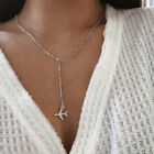 Women's Fashion Plane Airplane Aircraft Pendant Necklace Chain Jewelry BC