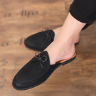 Summer Mens Slingback Mules Shoes Slip on Flats Round Toe Bowknot Casual Loafers